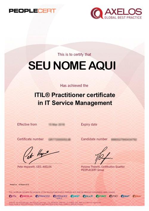 Certificado ITIL PRACTITIONER