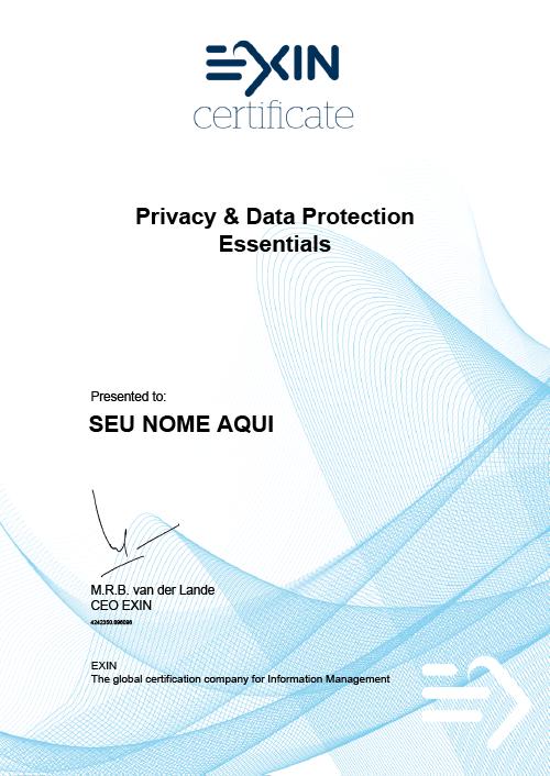 Certificado Privacy & data protection essentials